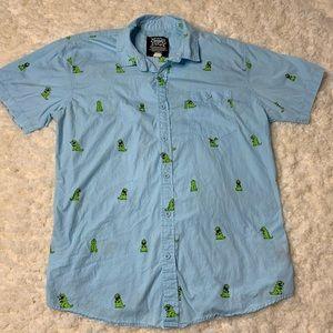 Rugrats Reptar Button Down Shirt
